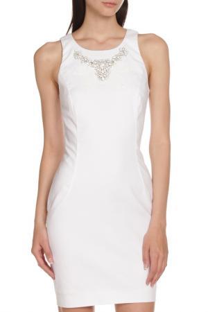 Приталенное платье с декором Whos Who Who's. Цвет: белый
