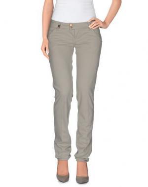 Повседневные брюки MET & FRIENDS. Цвет: светло-серый