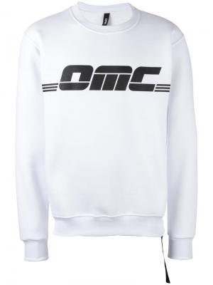 Толстовка с принтом логотипа Omc. Цвет: белый