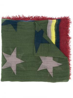Платок с принтом Zadig & Voltaire. Цвет: зелёный