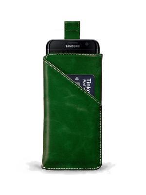 Чехол для Samsung S7 Edge с ремешком ZAVTRA. Цвет: зеленый