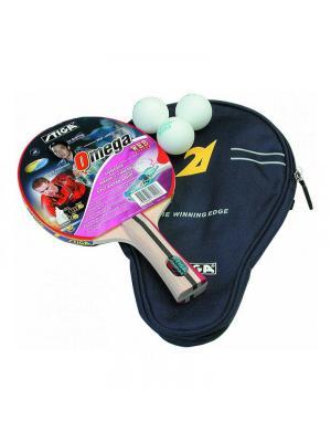 Набор для настольного тенниса OMEGA WRB ITTF [ракетка + чехол 3 мяча] (1751-01) Stiga. Цвет: красный