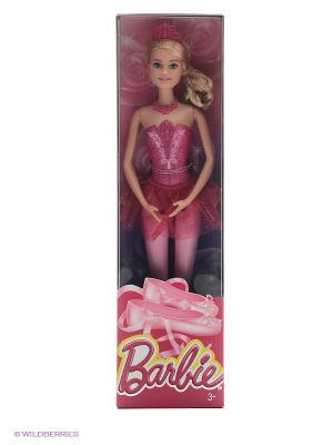 Барби-балерина Barbie. Цвет: розовый, золотистый