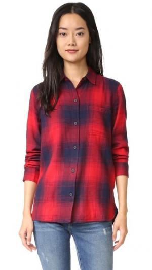 Рубашка Ex BF в красную и синюю клетку Madewell. Цвет: красная сангрия
