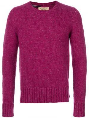 Свитер с круглым вырезом Burberry. Цвет: розовый и фиолетовый