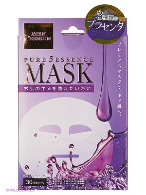 Маска для лица c тремя видами плаценты 30 шт Japan Gals. Цвет: прозрачный