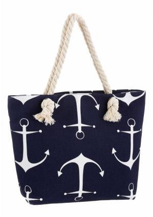 Пляжная сумка. Цвет: темно-синий/белый