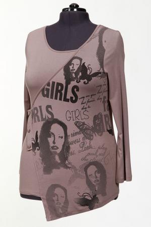 Блуза Зар-Стиль. Цвет: шоколад