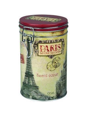 Контейнер для хранения Памятники Парижа Orval. Цвет: белый, черный, красный