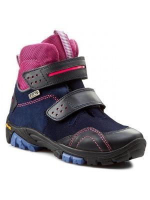 Ботинки Bartek. Цвет: синий,розовый