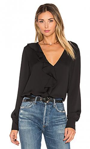 Блуза с рюшами LAcademie L'Academie. Цвет: черный