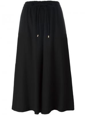 Укороченные брюки-палаццо Vanessa Seward. Цвет: чёрный