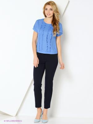 Блузка KEY FASHION. Цвет: синий