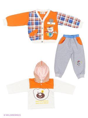 Комплект Patano. Цвет: оранжевый, белый, синий, серый
