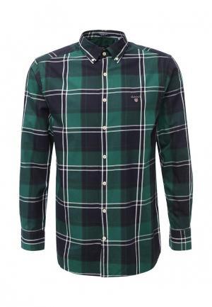 Рубашка Gant. Цвет: зеленый