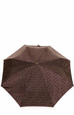 Складной зонт Moschino. Цвет: коричневый