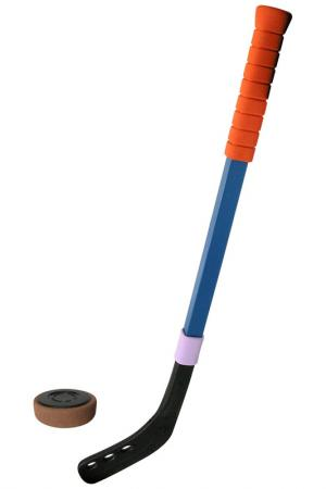 Клюшка хоккейная, шайба Safsof. Цвет: мультицвет