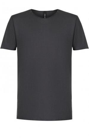 Хлопковая футболка с круглым вырезом Giorgio Brato. Цвет: серый