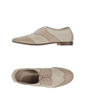 Обувь на шнурках LABORATORIGARBO. Цвет: голубиный серый