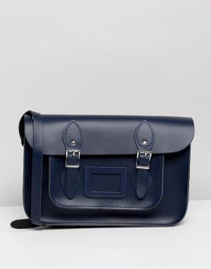 Leather Satchel Company Классический портфель 12.5. Цвет: темно-синий
