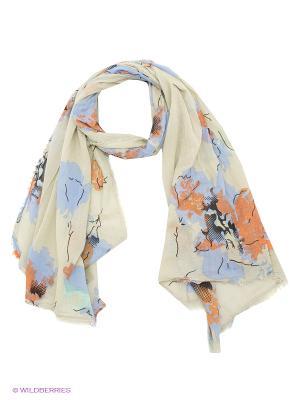 Палантин Pieces. Цвет: оливковый, голубой, оранжевый