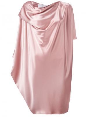 Драпированное платье миди Gianluca Capannolo. Цвет: розовый и фиолетовый