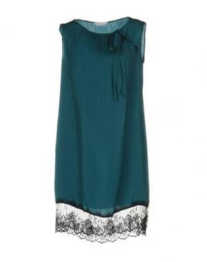 Короткое платье BIANCOGHIACCIO. Цвет: цвет морской волны