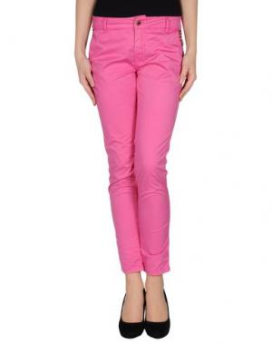 Повседневные брюки STUDS WAR. Цвет: фуксия