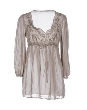 Блузка LA FEE MARABOUTEE. Цвет: серый