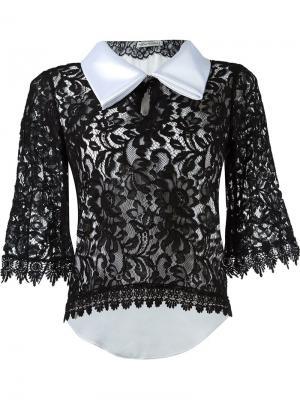 Lace blouse Martha Medeiros. Цвет: чёрный