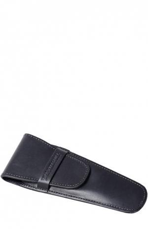 Кожаный чехол для бритвы черный Truefitt&Hill. Цвет: черный