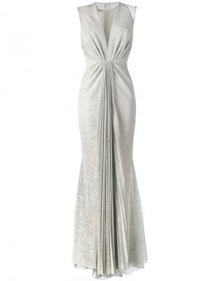 Вечернее платье Nominee Talbot Runhof. Цвет: телесный