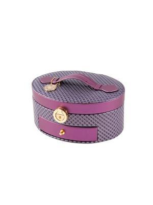 Шкатулка для ювелирных украшений CALVANI. Цвет: бежевый, фиолетовый