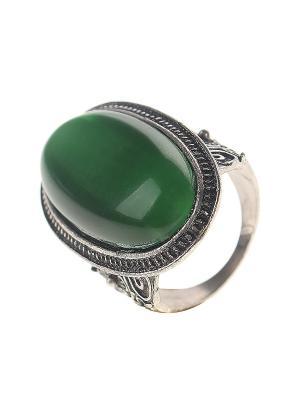 Кольцо Infiniti. Цвет: зеленый, серебристый