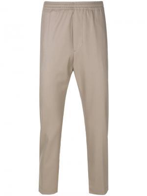 Прямые брюки Mauro Grifoni. Цвет: телесный