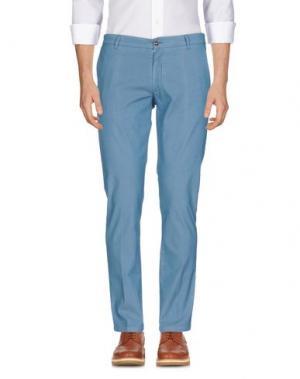 Повседневные брюки ONE SEVEN TWO. Цвет: грифельно-синий