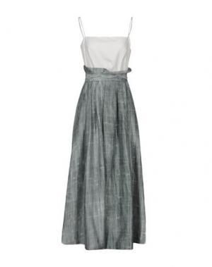 Длинное платье MAISON LAVINIATURRA. Цвет: светло-зеленый
