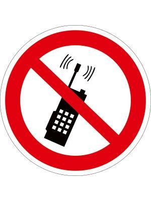 Наклейка информационная Запрещается пользоваться мобильным телефоном (2 шт.) Оранжевый Слоник. Цвет: красный, черный