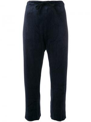Укороченные брюки со шнурком Hache. Цвет: синий