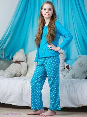 Пижама Lowry. Цвет: лазурный