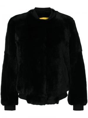 Куртка Four Rex Meteo By Yves Salomon. Цвет: чёрный