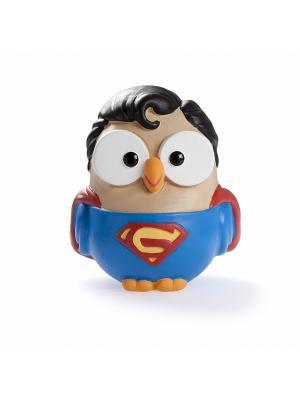 Керамическая статуэтка сова Супермен Goofi. Цвет: синий