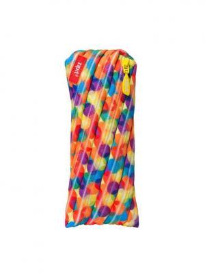 Пенал-сумочка COLORS POUCH, цвет мульти шарики ZIPIT. Цвет: оранжевый, желтый