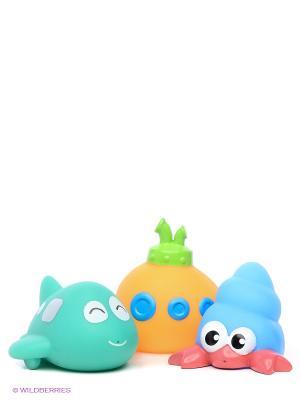 Набор игрушек-брызгалок S-S. Цвет: бирюзовый, голубой, желтый