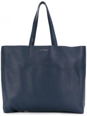 Сумка-шоппер Orciani. Цвет: синий