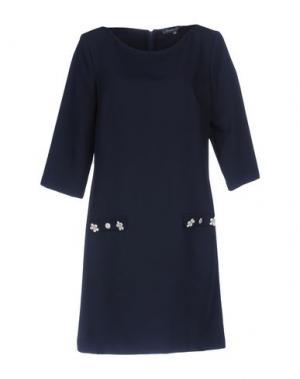 Короткое платье LA CAMICIA BIANCA. Цвет: темно-синий