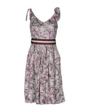 Платье до колена MARIAGRAZIA PANIZZI. Цвет: голубиный серый