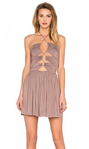 Платье sophia De Lacy. Цвет: серо-коричневый