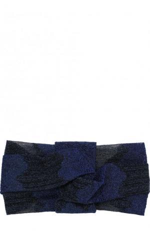 Вязаная повязка из вискозы Missoni. Цвет: темно-синий