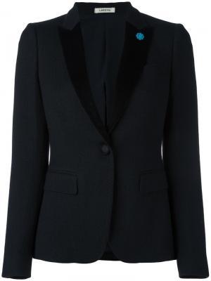 Пиджак с застежкой на две пуговицы Lardini. Цвет: чёрный